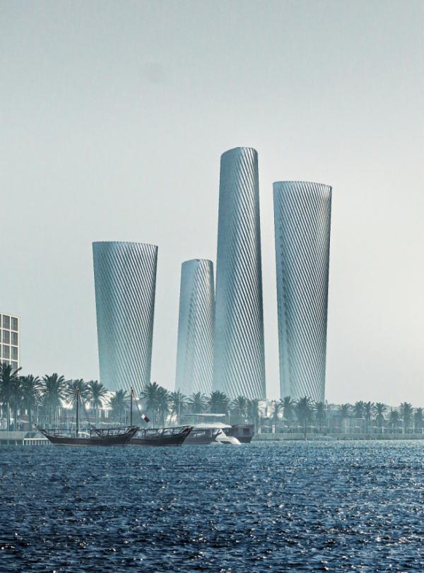 ▲현대건설이 올해 초 수주한 카타르 루사일 오피스 조감도.  (현대건설)