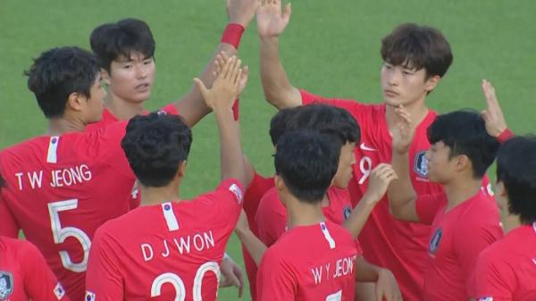 ▲'2020 도쿄올림픽 축구 아시아 최종예선'(사진제공=JTBC)