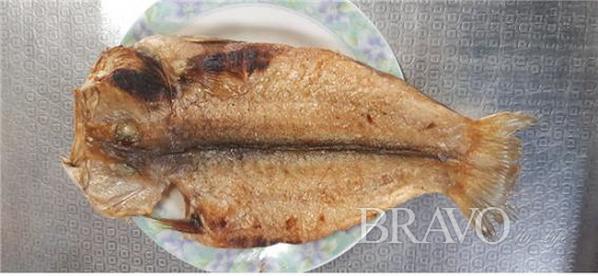 ▲제주 옥돔을 제대로 구운 고기 앞면의 모습(홍지영 동년기자)