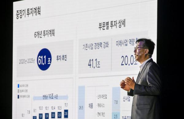 ▲이원희 현대자동차 사장이 4일 여의도 콘래드 서울 호텔에서 열린 'CEO 인베스터 데이'에서 주주, 애널리스트, 신용평가사 담당자 등을 대상으로 '2025 전략'과 중장기 '3대 핵심 재무 목표'를 발표하고 있다.  (사진제공=현대자동차)