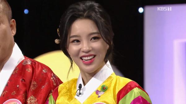 ▲가수 신미래(사진=KBS1 '우리말 겨루기' 방송화면 캡처)