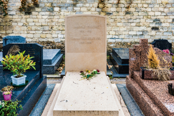 ▲파리 몽파르나스 묘지에 있는장 폴 사르트르와 시몬 드 보부아르의 무덤.