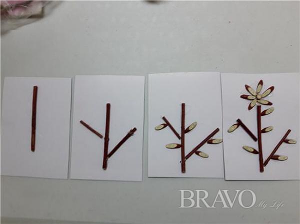 ▲꽃 만들기 표본(사진 홍지영 동년기자)