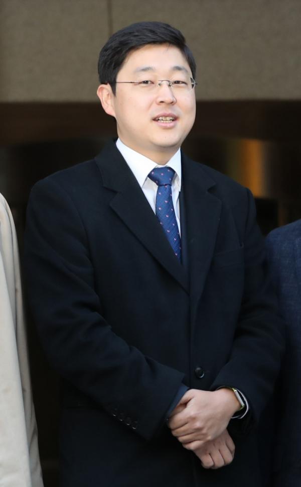 ▲2018년 11월 1일 양심적 병역거부를 인정받은 오승헌 씨 (뉴시스)