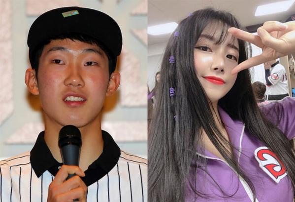 ▲야구선수 박효준과 치어리더 안지현이 열애설에 휩싸였다. (출처=연합뉴스, 안지현 SNS)