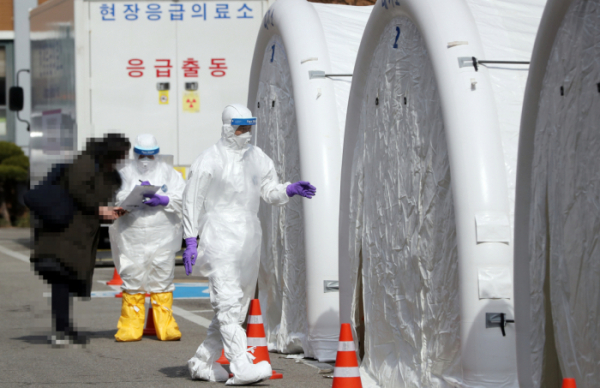 ▲원주 첫 번째 코로나 확진자 발생. (연합뉴스)