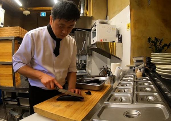 ▲일본식 소고기 전골(스키야키) 달인(사진=SBS '생활의 달인' 방송화면 캡처)