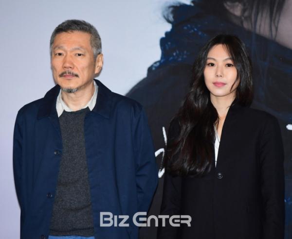 ▲홍상수 감독(왼쪽), 배우 김민희(비즈엔터DB)