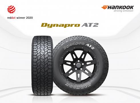 ▲한국타이어앤테크놀로지의 온ㆍ오프로드용 타이어 '다이나프로 AT2(Dynapro AT2)'가 독일 '레드닷 디자인 어워드 2020'의 제품 디자인 부문에서 '본상'을 받았다.  (사진제공=한국타이어)