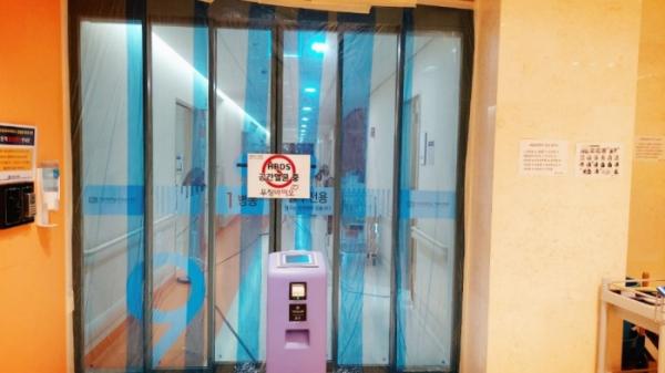 ▲가톨릭대학교 은평성모병원에 멸균장비를 배치한 모습  (우정바이오)
