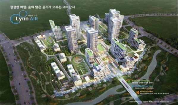 ▲행정중심복합도시 6-3 생활권 M3 '공공 지원 민간임대주택' 조감도. (사진 제공=한국토지주택공사(LH))