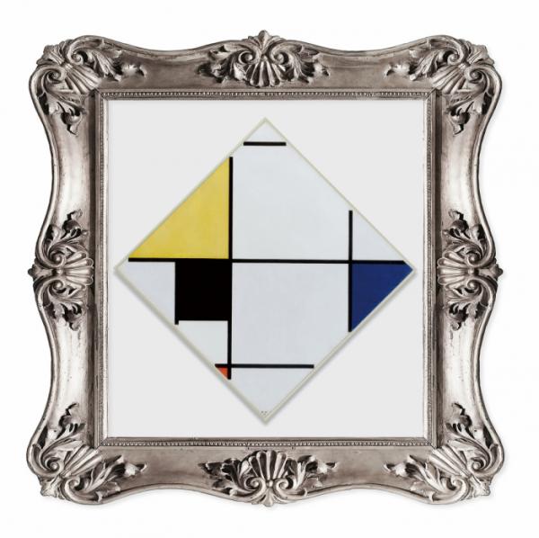 ▲적색, 회색, 청색, 황색, 흑색이 있는 마름모꼴 콤퍼지션(캐나다 매거진 'The WITH' 제공)