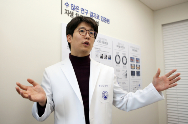 ▲자생척추관절연구소 하인혁 소장(자생한방병원)