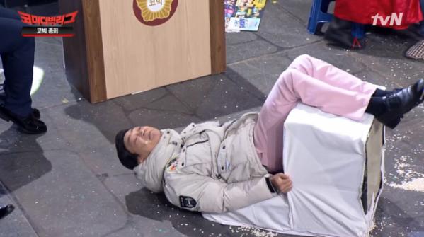 ▲김두영 아폴로13호 개인기(사진=tvN '코미디빅리그' 방송화면 캡처)