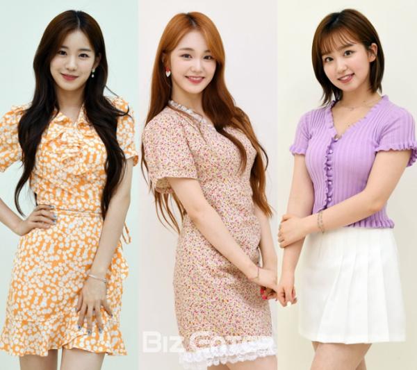 ▲woo!ah! 우연(왼쪽부터), 나나, 소라(비즈엔터DB)