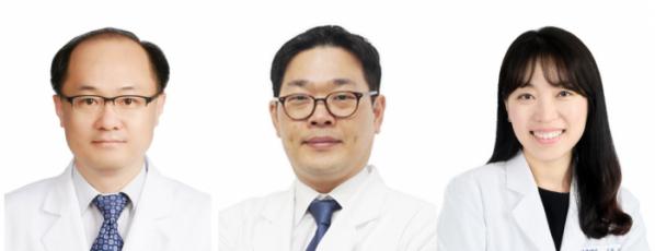 ▲좌측부터 경희대한방병원 폐장호흡내과 정희재·이범준·김관일 교수