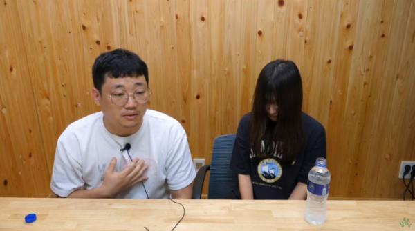 ▲참피디, 쯔양(사진=유튜브채널 '애주가TV참PD' 라이브 방송 캡처)