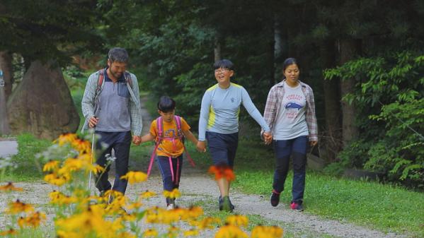 ▲EBS '한국기행' 거창 덕유산 빙기실마을 계곡 폭포