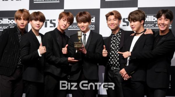 ▲빅히트엔터테인먼트 소속 그룹 방탄소년단(BTS)(비즈엔터DB)