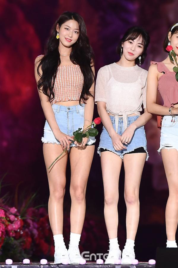 ▲AOA 설현(왼쪽), 前 멤버 권민아(비즈엔터DB)