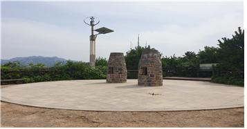 ▲봉산의 봉수대(사진 조왕래 시니어기자 )