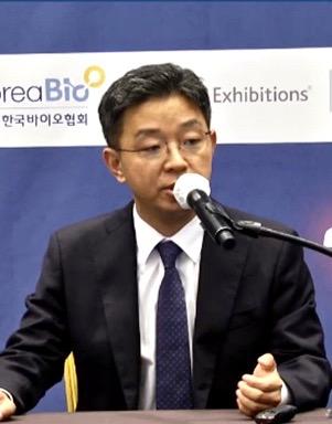 ▲김건수 큐로셀 대표 발표모습
