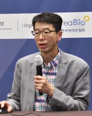 ▲김재훈 올리패스 상무 발표 모습, 화면 캡셔