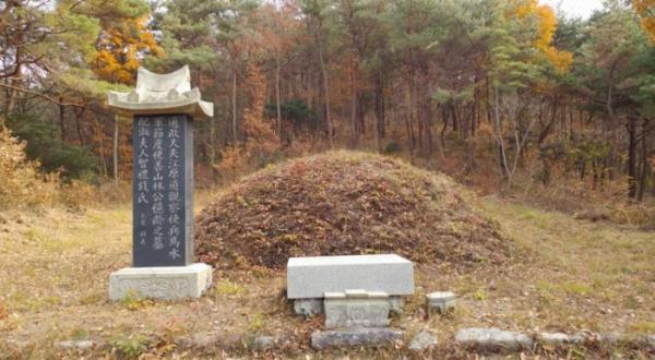 ▲해남에 있는 임억령의 묘소.