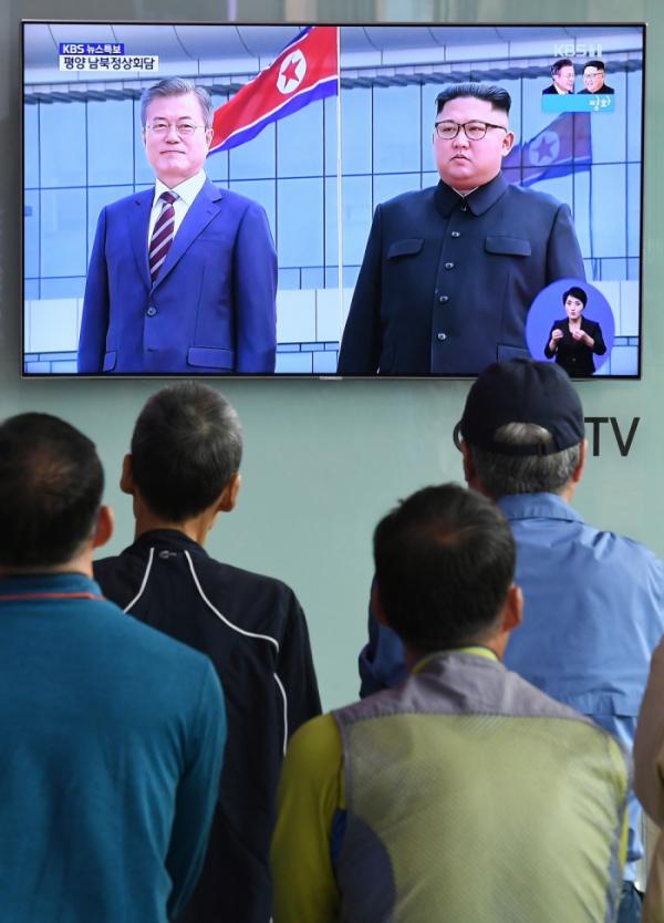 ▲문재인 대통령, 김정은 북한 국무위원장(이투데이DB)