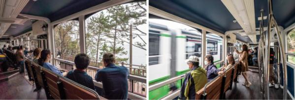 ▲그린레일웨이 옆을 달리는 해변열차(김혜영 여행작가)