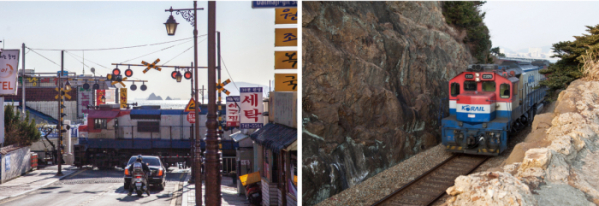 ▲청사포를 지나던 옛 동해남부선 열차(김혜영 여행작가)