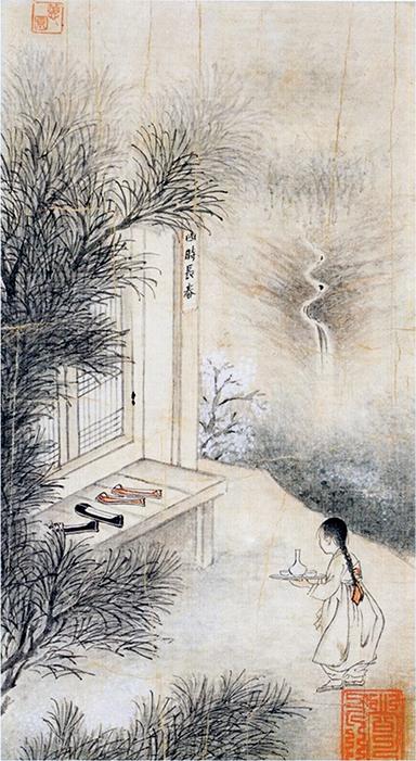 ▲신윤복의 '사시장춘', 27.2x15㎝(국립중앙박물관 소장)