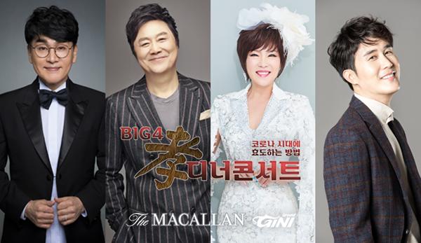 ▲가수 남진·김연자·조항조·신유가 출연하는 '빅4 효(孝) 디너 콘서트'가 6일 열린다.(지니그라운드 제공)