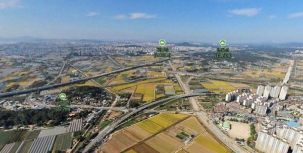 ▲대곡역세권개발 예정지(네이버 항공뷰)