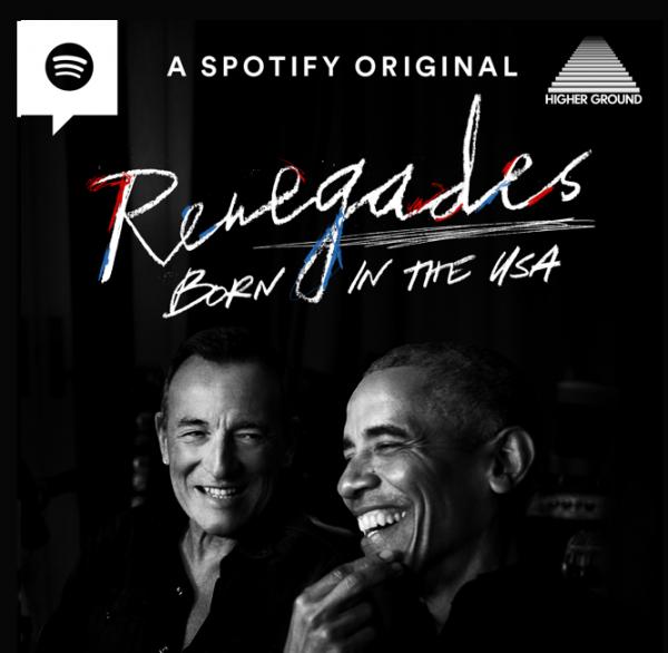 ▲버락 오바마와 브루스 스프링스틴 방송 포스터(스포티파이)
