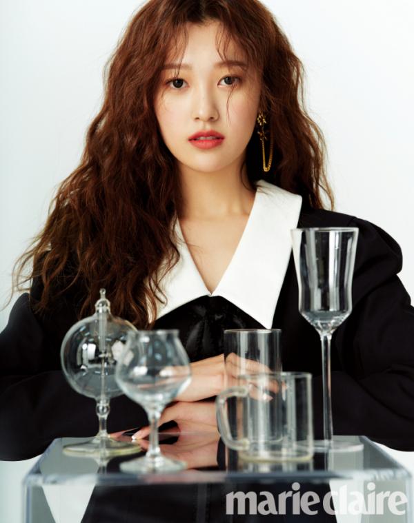 ▲이달의 소녀 최리(사진제공=마리끌레르)