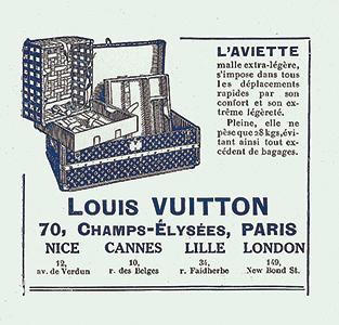 ▲루이비통의 1925년 트렁크 광고
