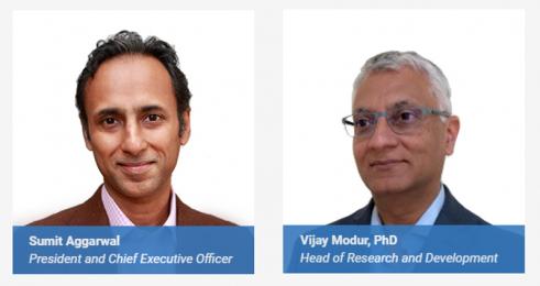 ▲서밋 아가르왈(Sumit Aggarwal) 일록스 CEO(좌), 비제이 모덜(Vijay Modur) 일록스 R&D 책임자(우)