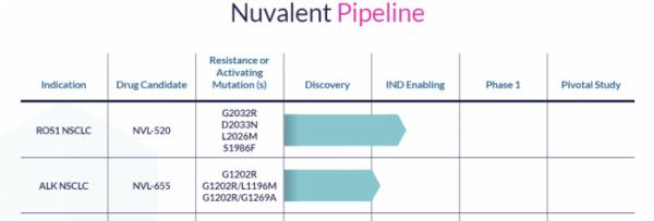 ▲Nuvalent Pipeline (Nuvalent 홈페이지 캡쳐)