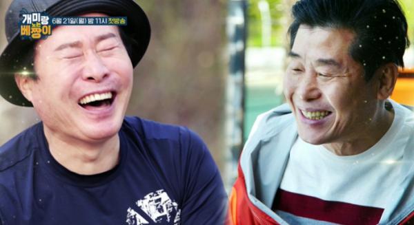 ▲'개미랑 노는 베짱이' 1회 게스트 박종복(왼쪽), 이연복(사진=MBN 방송화면 캡처)