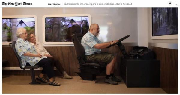 ▲뉴욕타임즈가 보도한 치매 노인들의 버스 여행 모습.(뉴욕타임즈 홈페이지 캡처)