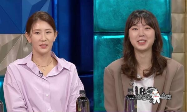 ▲김수지, 양효진(사진제공=MBC)