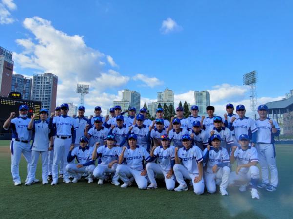 ▲U23 야구월드컵 한국 대표팀(사진제공=대한야구소프트볼협회)