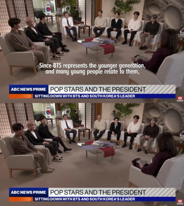 ▲방탄소년단(사진제공=ABC 뉴스 유튜브 채널)