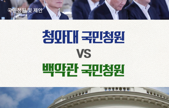 청와대 국민청원 vs 백악관 국민청원