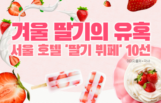 [인포그래픽] 겨울 딸기의 유혹…서울 호텔 '딸기 뷔페' 10선