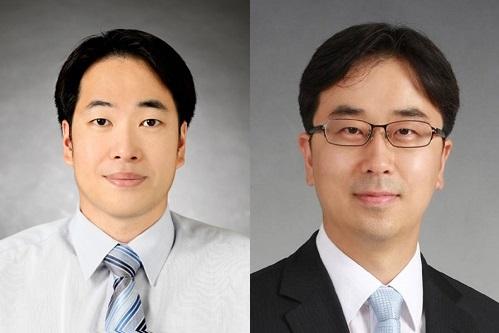 ▲김범준 교수(왼쪽)과 김택수 교수.(미래창조과학부)