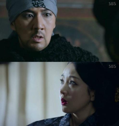 ▲배우 한상진, 윤손하 (출처=SBS '육룡이 나르샤' 방송화면 캡처 )