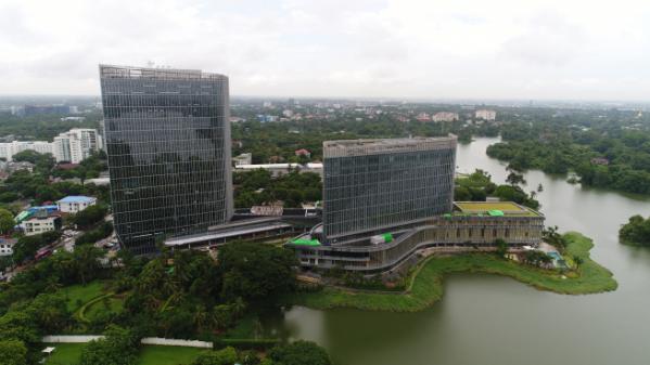 ▲미얀마 '롯데호텔 양곤'의 전경 (사진제공=포스코인터내셔널)