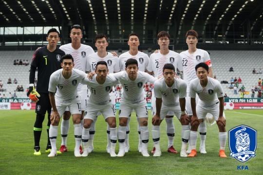 ▲7일(한국시간) 볼리비아와의 평가전을 앞둔 한국 축구 국가대표팀.(출처=대한축구협회(KFA))